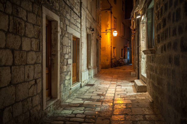 Street of Old Town - Croatian City stock photo