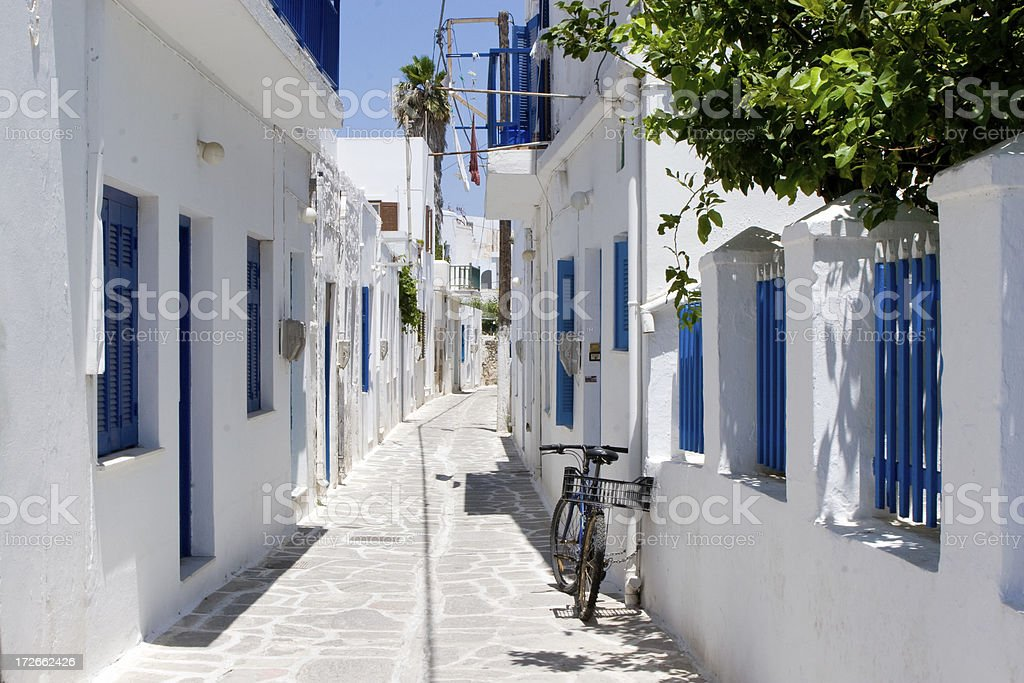 Street of Paros, Greece royalty-free stock photo