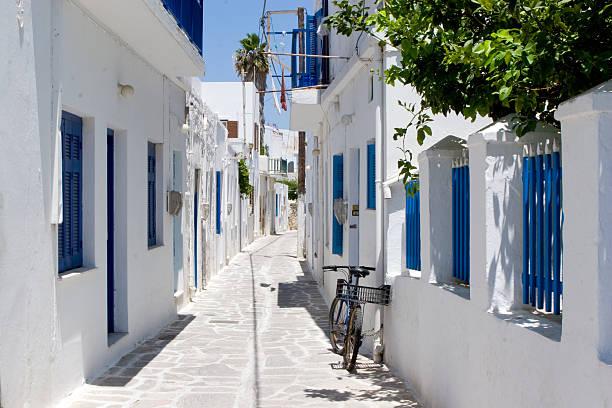 Street of Paros, Greece stock photo
