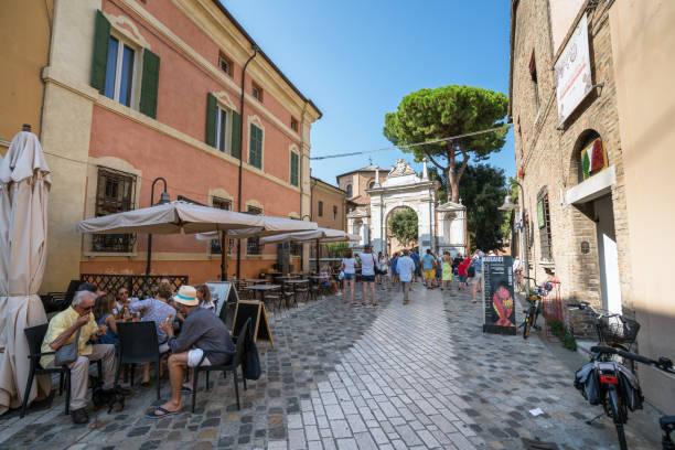 Street of San Vitale in Ravenna stock photo