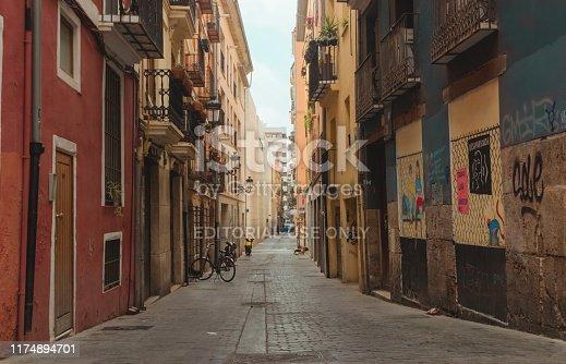 Calle del Barrio del Carmen, Valencia, Spain, August 6, 2019