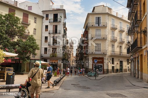 Calle del Barrio del Carmen, Valencia, Spain, August 7, 2019