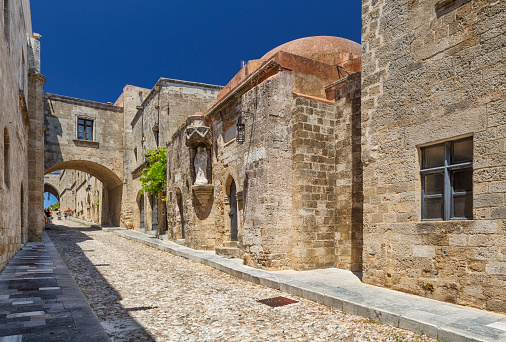 istock Street of the Knights, Medieval Town of Rhodes, Greece 578110090