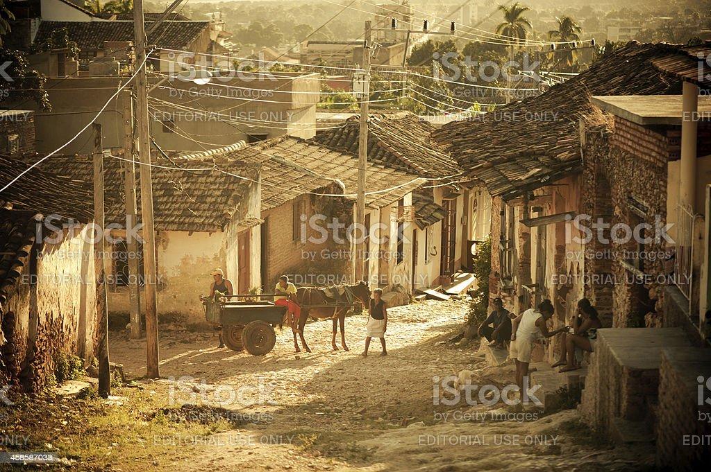 Street of Trinidad, Cuba royalty-free stock photo