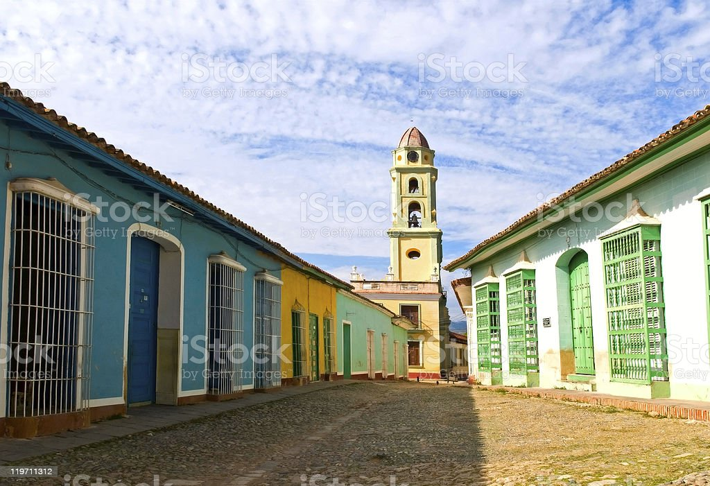street of Trinidad stock photo