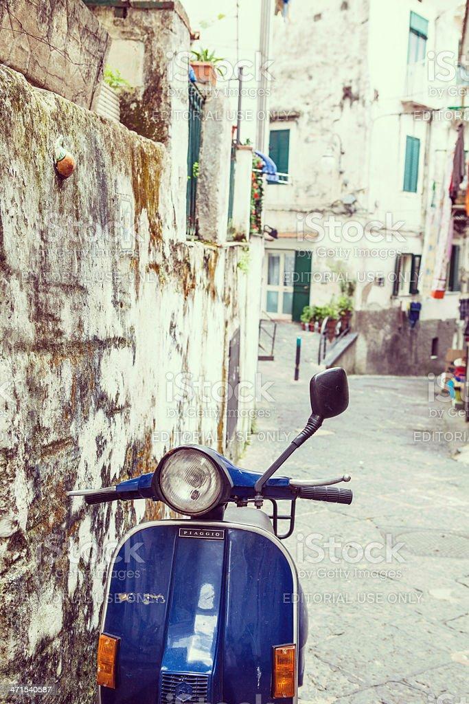 Street of Vietri town, Italy stock photo