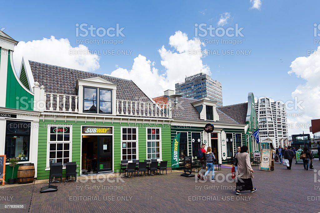 Street of Zaandam, Netherlands stock photo