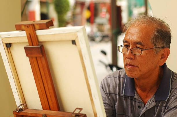 Street Painter stock photo