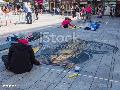 istock Street painting in 3D 507793335