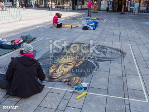 istock Street painting in 3D 507820371