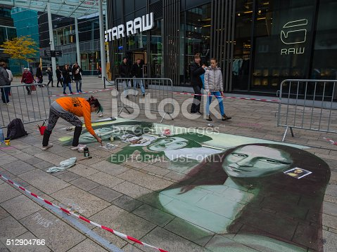 istock Street painting in 3D 512904766