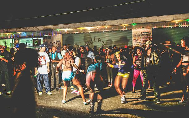 street party in ghetto. - reggae stok fotoğraflar ve resimler