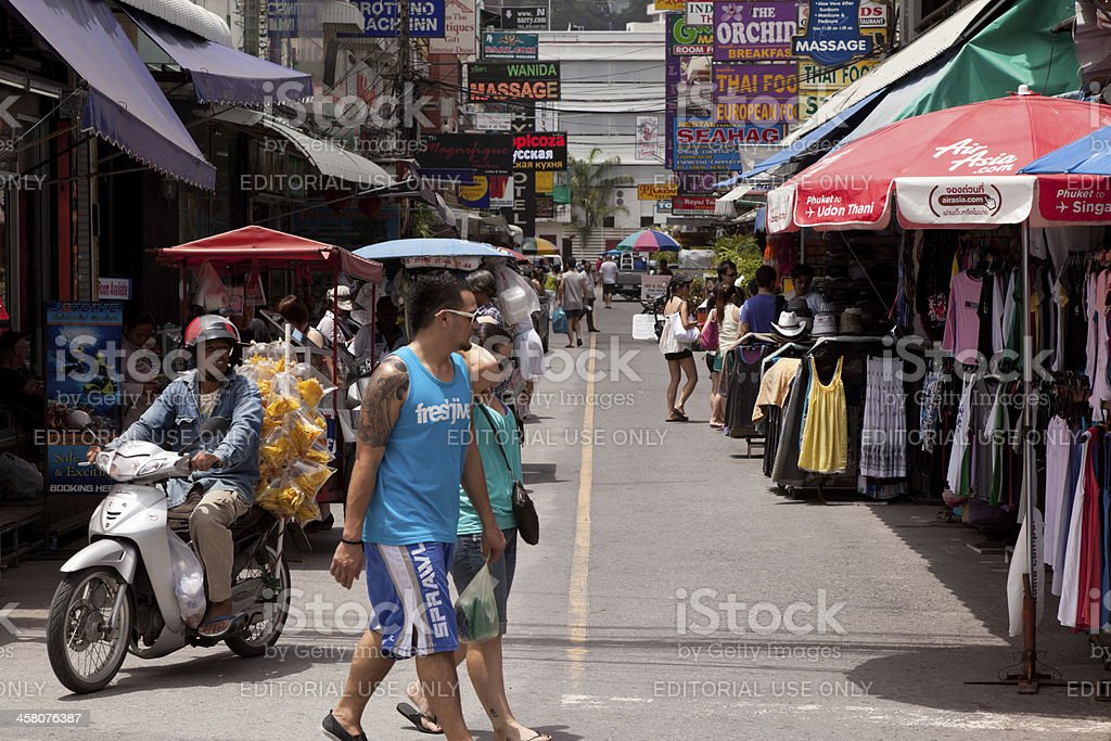 Street Patong beach royalty-free stock photo