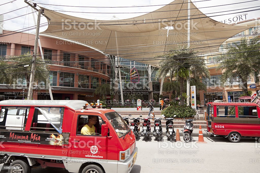 Street Patong town, JungCeylon shopping centre stock photo