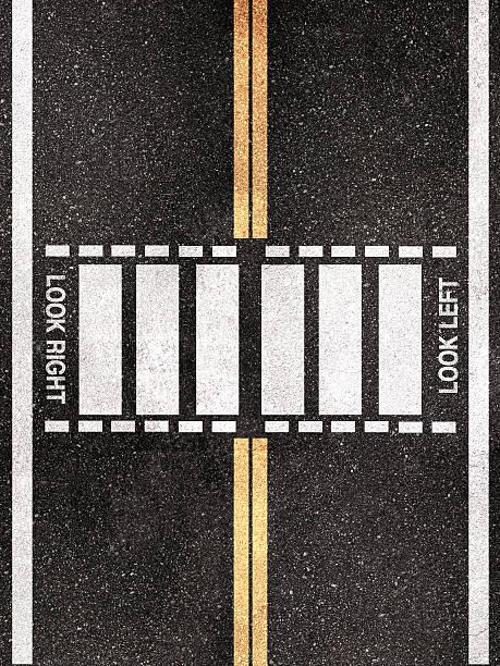 street pedestrian crossing pattern - dunkle flecken entferner stock-fotos und bilder