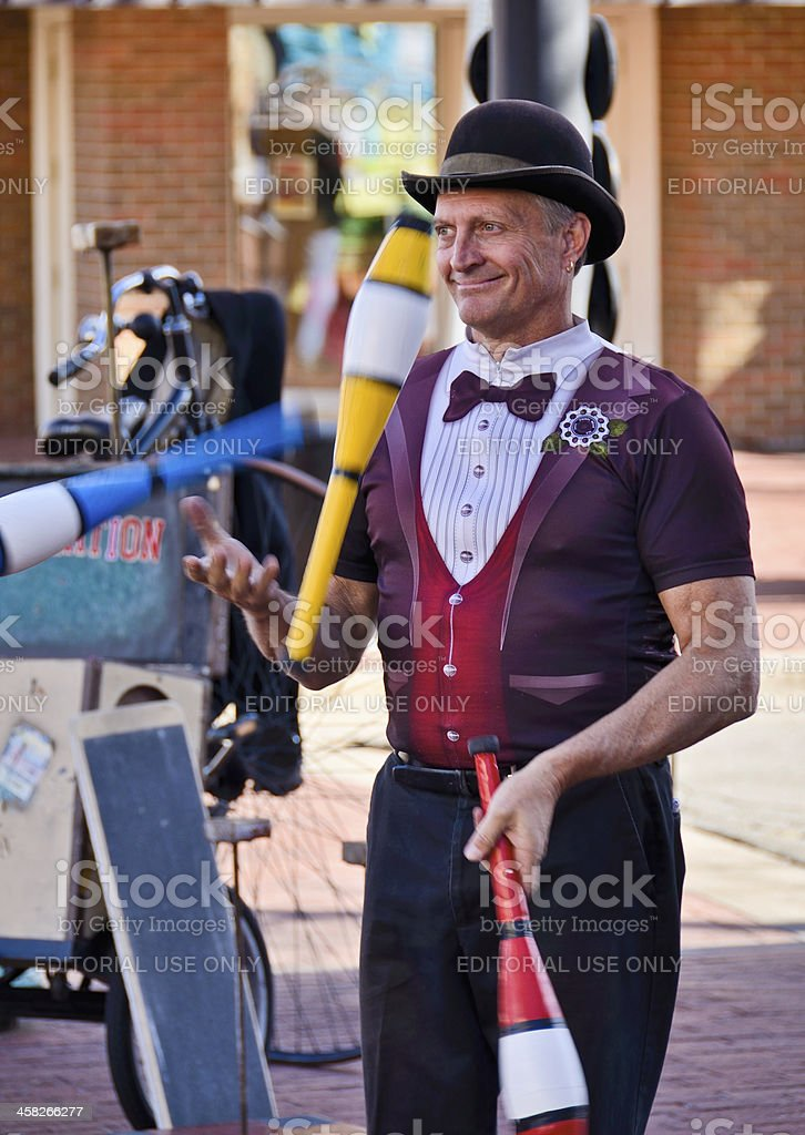 Street Performer, Boulder Colorado royalty-free stock photo