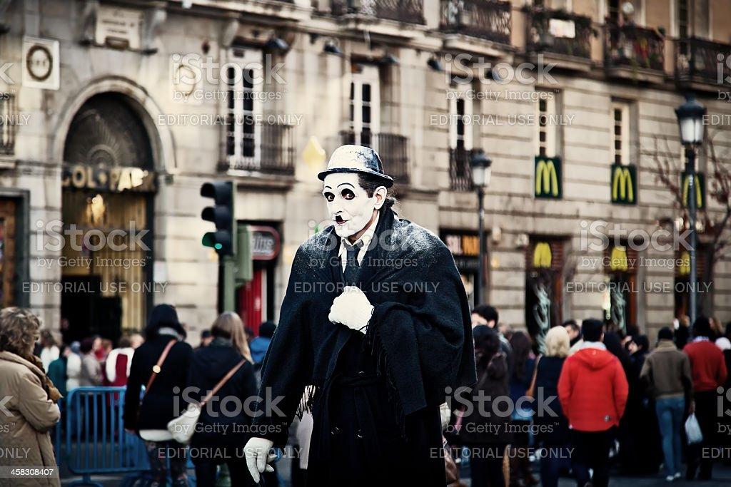 Street Performer Dressed as Charlie Chaplin royalty-free stock photo