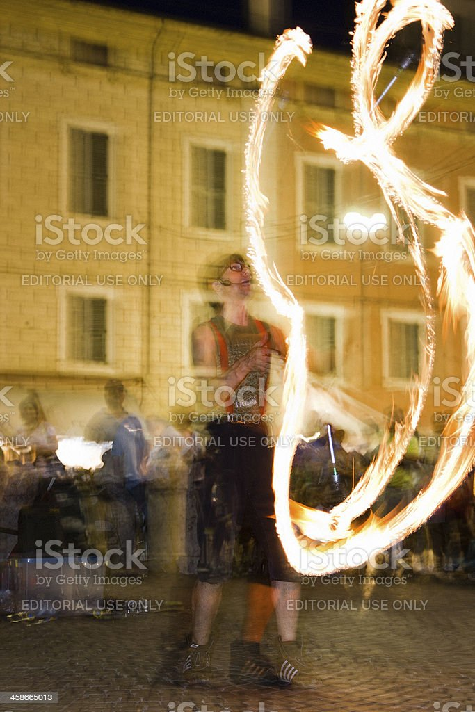 Street Performer in Ferrara royalty-free stock photo