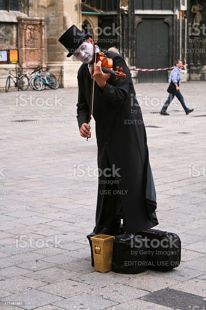 Street Performer Playing Violin royalty-free stock photo