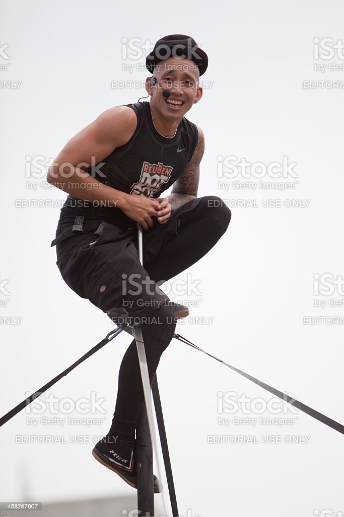 Street Performer Smiling royalty-free stock photo