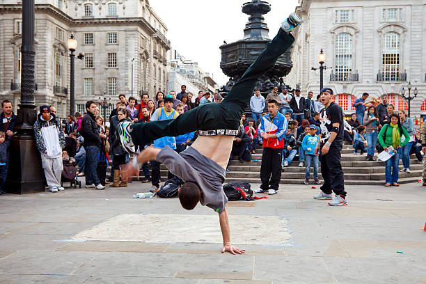 Street am Piccadilly Circus Performer – Foto