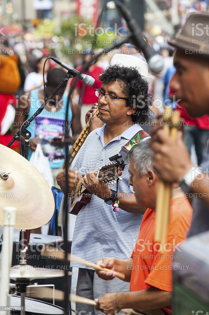 Street Performers in New York City royalty-free stock photo