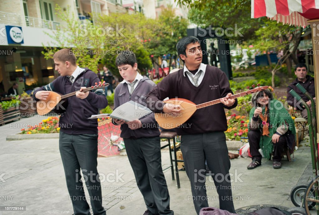 Street Performers, Izmir stock photo