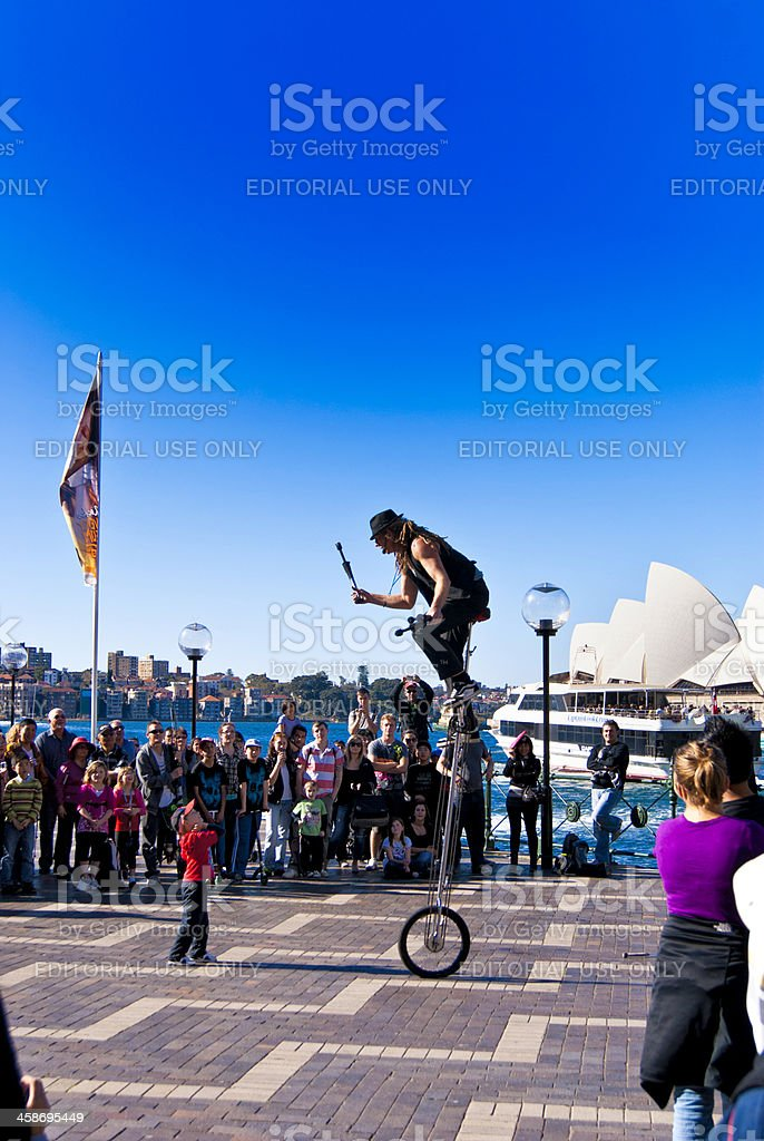 Street performing in Sydney royalty-free stock photo