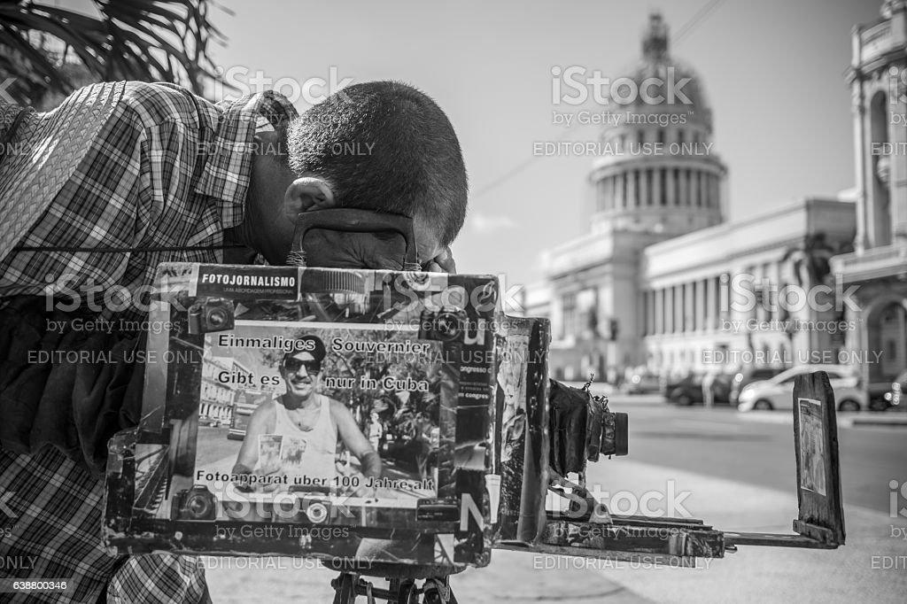 Street photographer at Capitolio stock photo