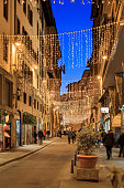 Street Photography in christmas time in FLorence italy
