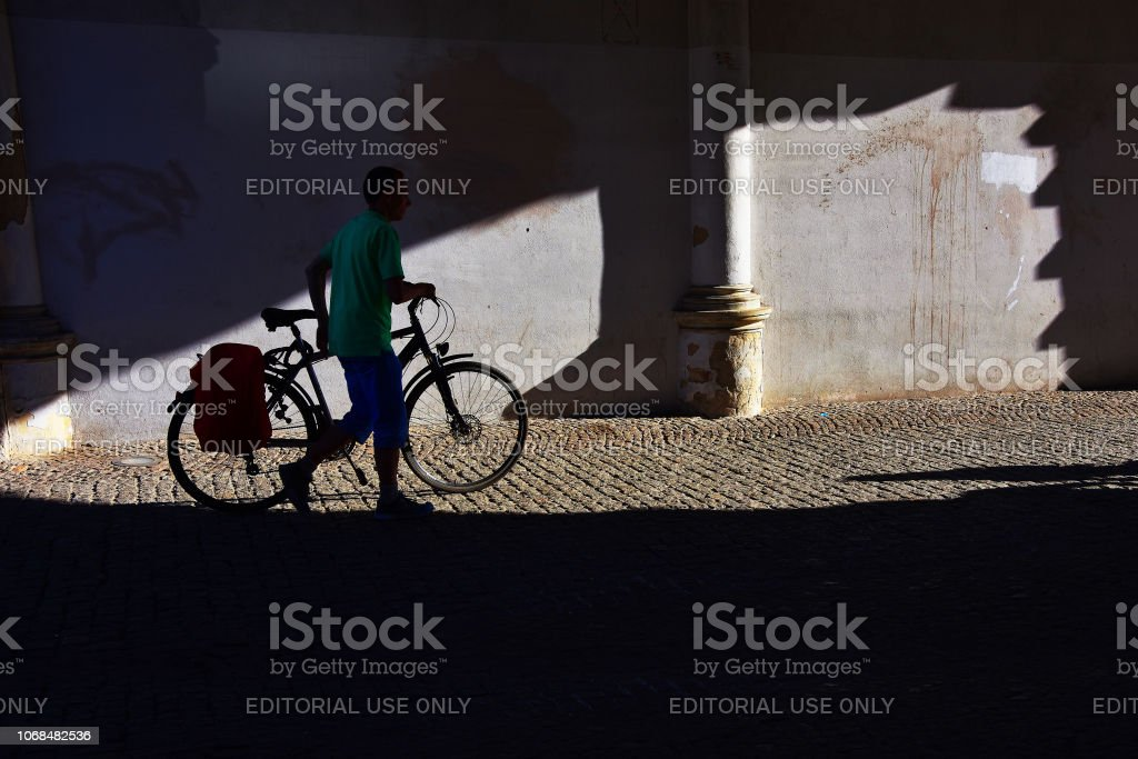 Gdansk, Poland - July 7, 2018. Street photography with light and...