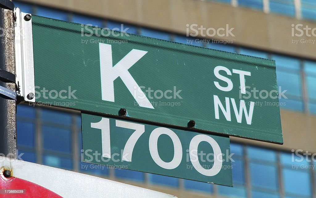 K Street royalty-free stock photo