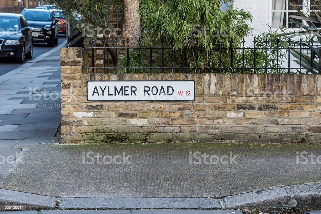 Street plates in West London stock photo
