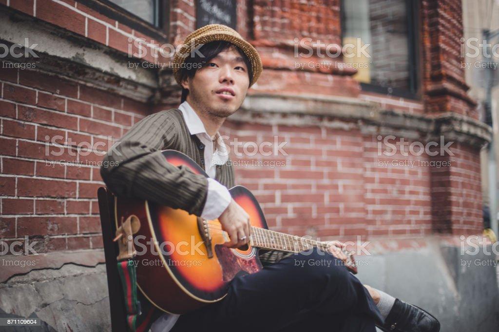 Street player stock photo
