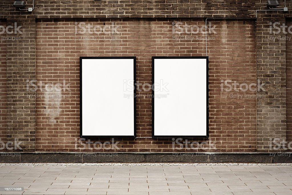 Street posters stock photo