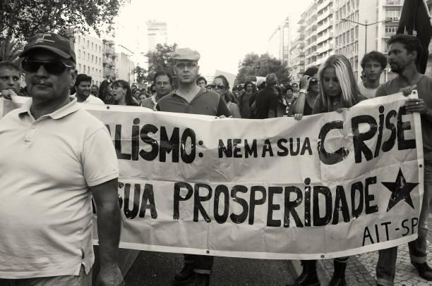 Street Demonstration in Lissabon – Foto