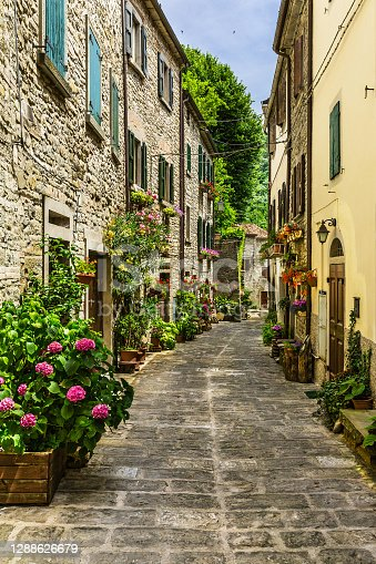 Beautiful small street provincial Italy