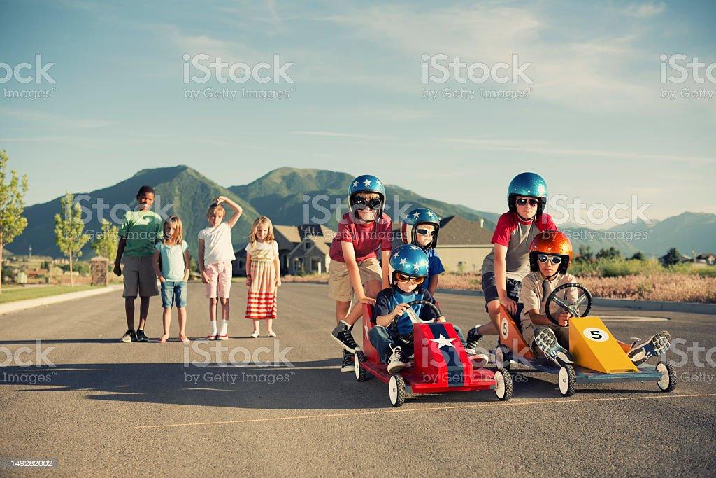 Street Racers stock photo