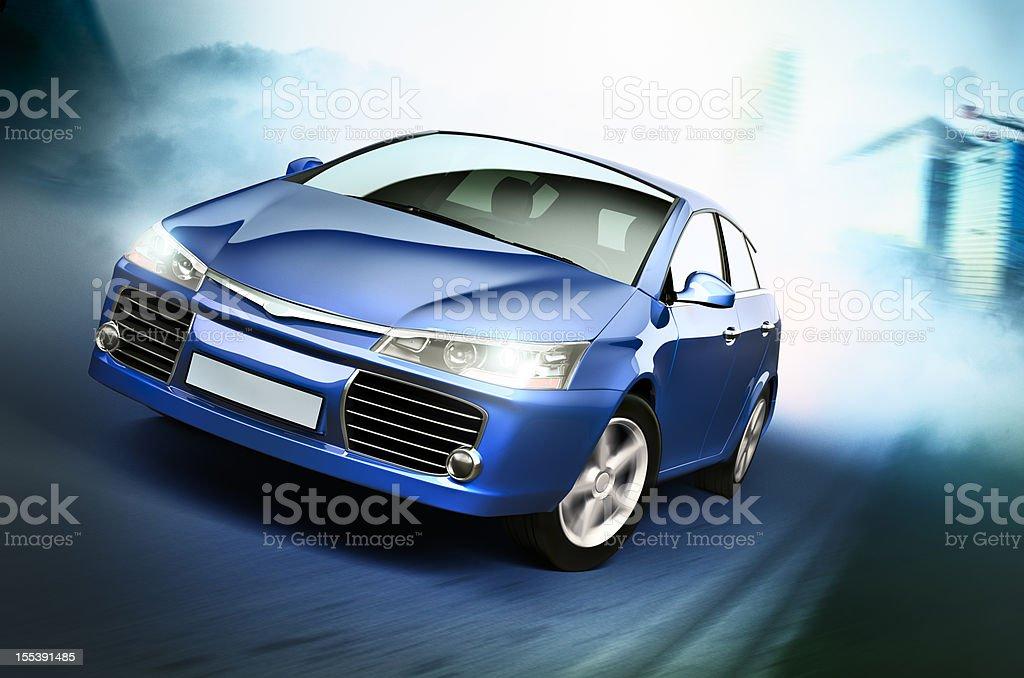 Street racing stock photo