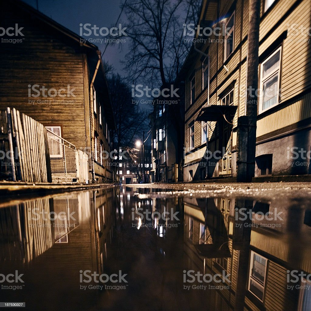 street reflections royalty-free stock photo