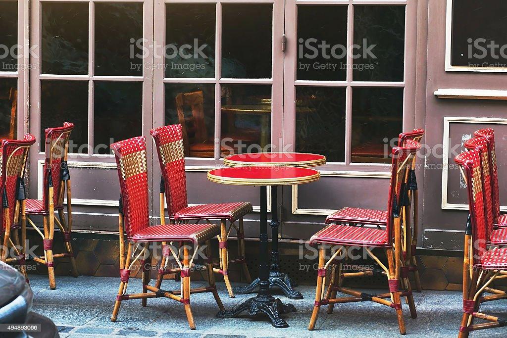 street restaurant stock photo