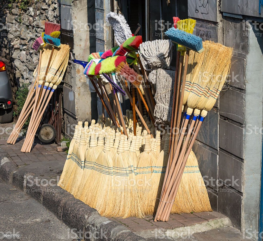 Street Retail Outlet selling traditional Household cleaning Items stock photo