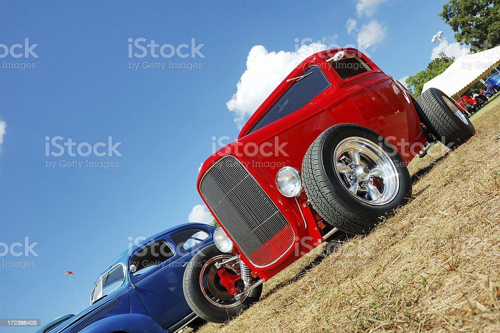 Street Rod at Car Show stock photo