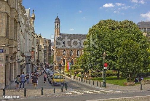 istock Street Rue de la Madeleine in Brussels, Belgium 519830428