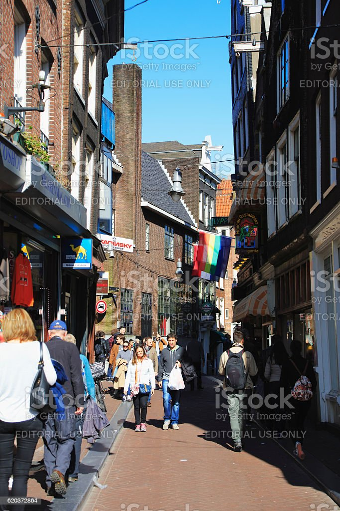 Street scene, Amsterdam, Netherlands zbiór zdjęć royalty-free