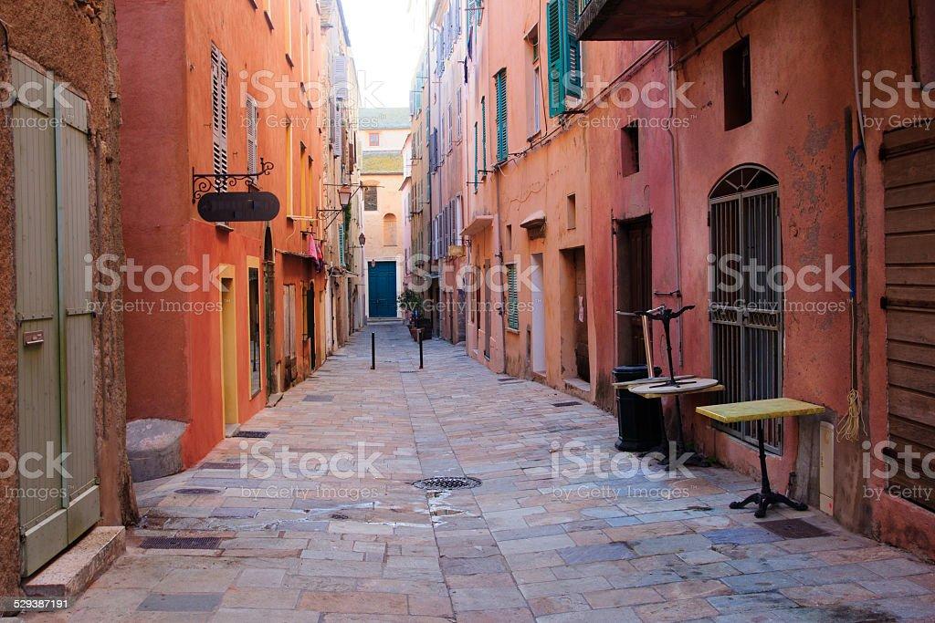 Street Scene, Bastia stock photo