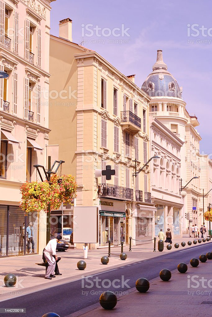 Street scene from Cannes, France royalty-free stock photo