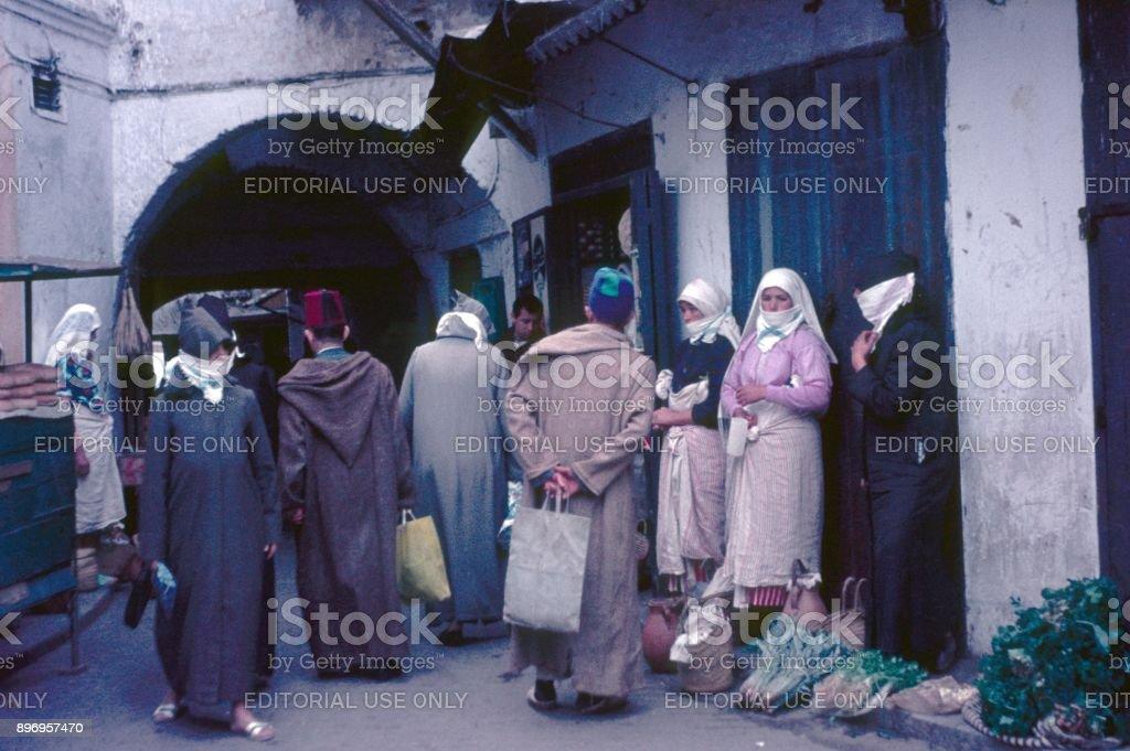 Street scene in Agadir, Morocco stock photo