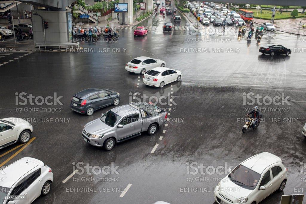 Street Scene In Bangkok, Thailand stock photo