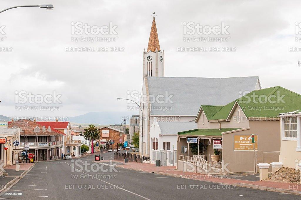 Street scene in Caledon stock photo